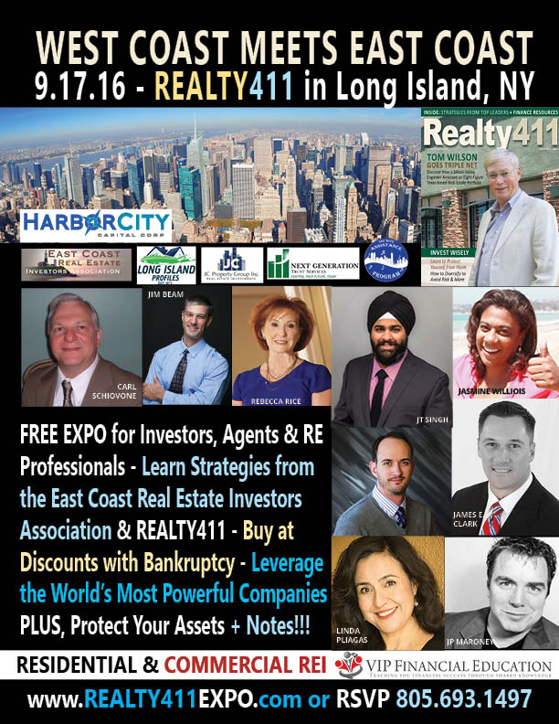 West Coast Meets East Coast in Long Island with East Coast REIA – Over 200 RSVPs, Join Us!