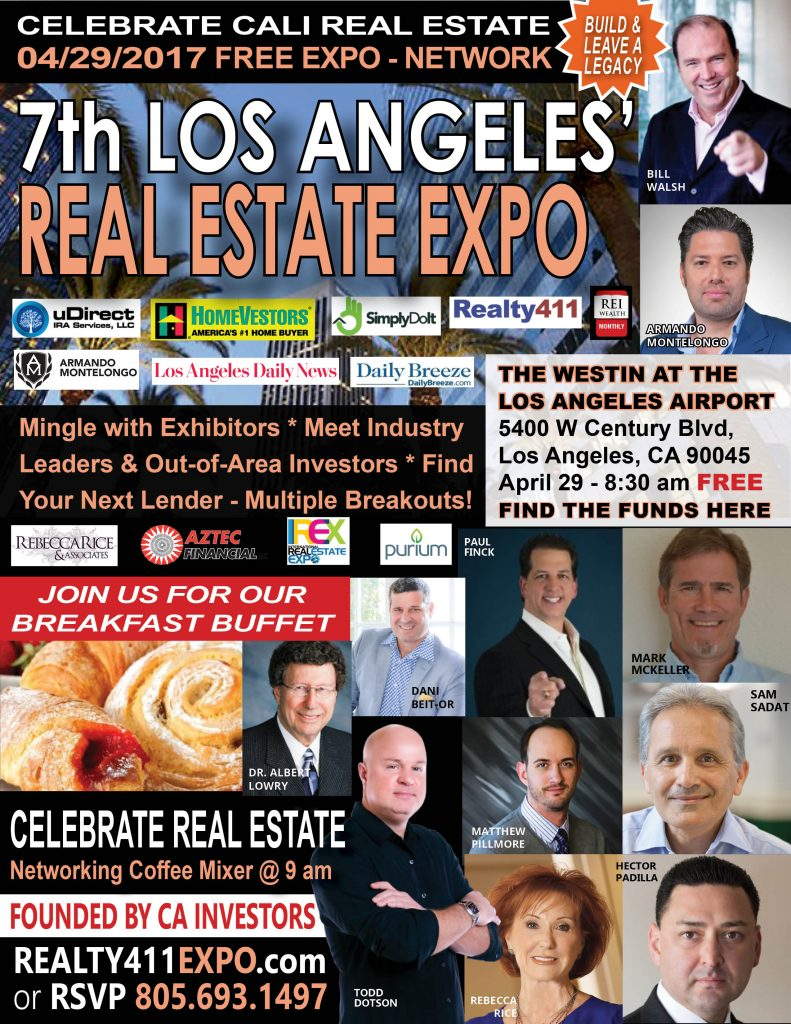 Los Angeles Creative Real Estate Investor's Expo is Coming Up – SAVE THE DATE!