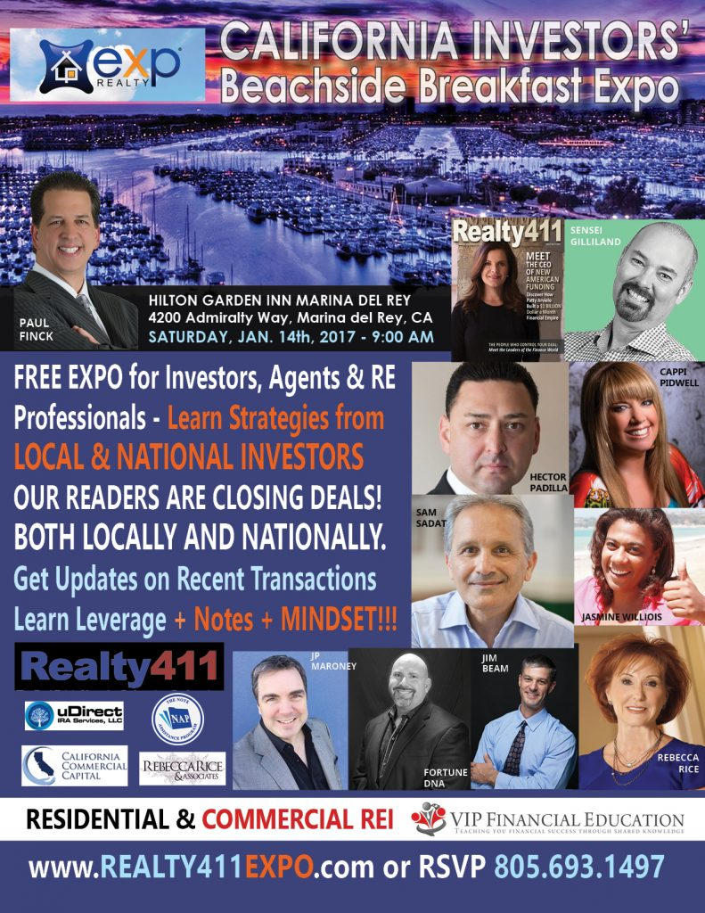 Network with Sophisticated Real Estate Investors and Professionals – Complimentary Breakfast for Early-Bird Guests. Find the Funds for Your Deals!