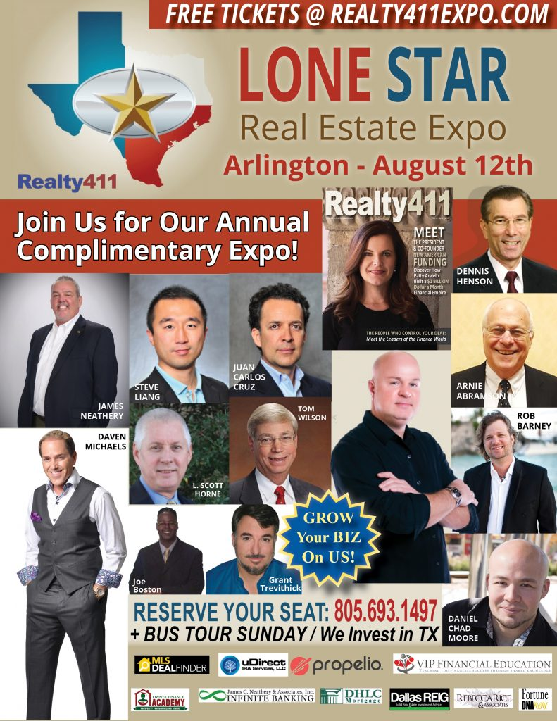 Get the 411 on Our Lone Star Real Estate Expo in Arlington, Texas