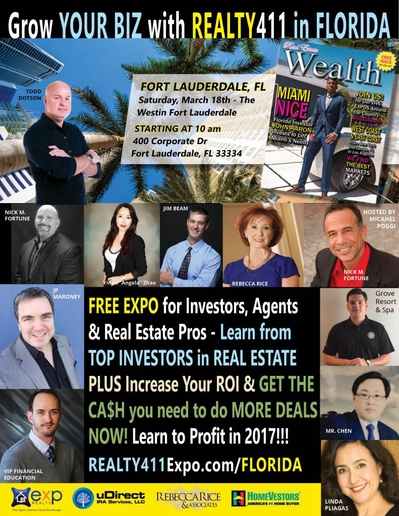 Realty411 Heats Things Up In Florida – Network with Us Again in Fort Lauderdale on March 18th.