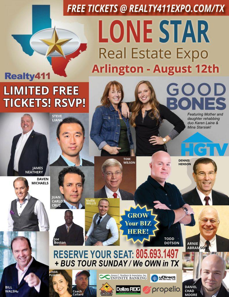 Lone Star Real Estate Expo with HGTV's Good Bones Stars Karen Laine & Mina Starsiak!