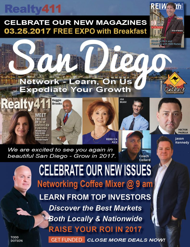 San Diego Real Estate Summit Celebrating REALTY411 – 10 Years of Publishing Excellence