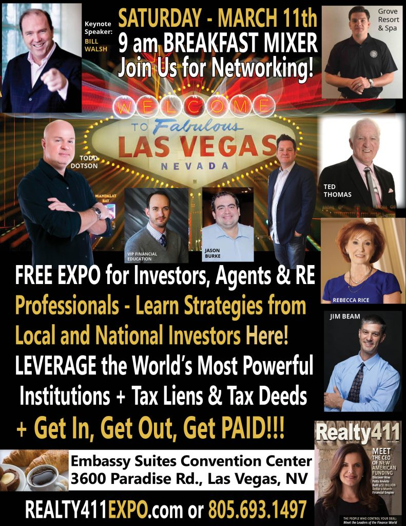Download Our Las Vegas Real Estate Expo Schedule Here!