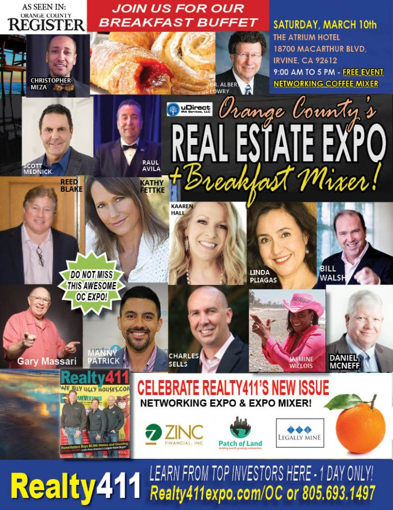 Join Us in Irvine for Our Breakfast Mixer and Investor Expo – RESERVE YOUR TICKETS NOW!