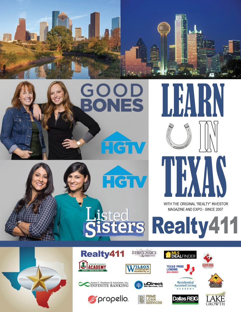 Save these IMPORTANT DATES – Network in New York and Texas with REALTY411