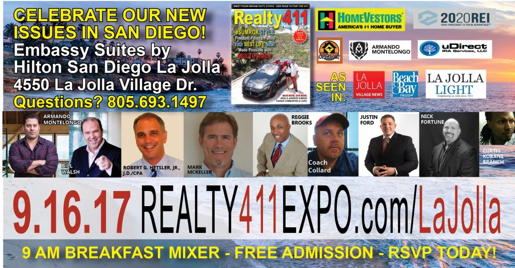Realty411 Hosts San Diego Real Estate Conference this Saturday Uniting Local and Out-of-State Investors for One Day