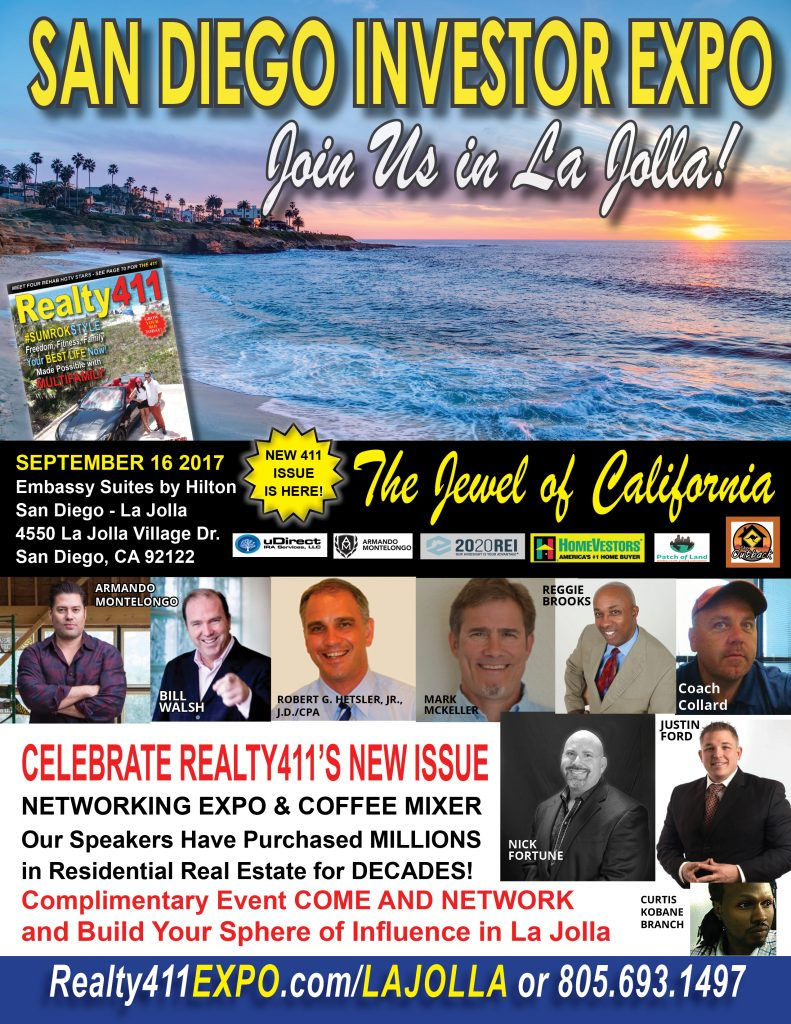 REGISTER TODAY for Our San Diego Real Estate Investor's Expo this Saturday