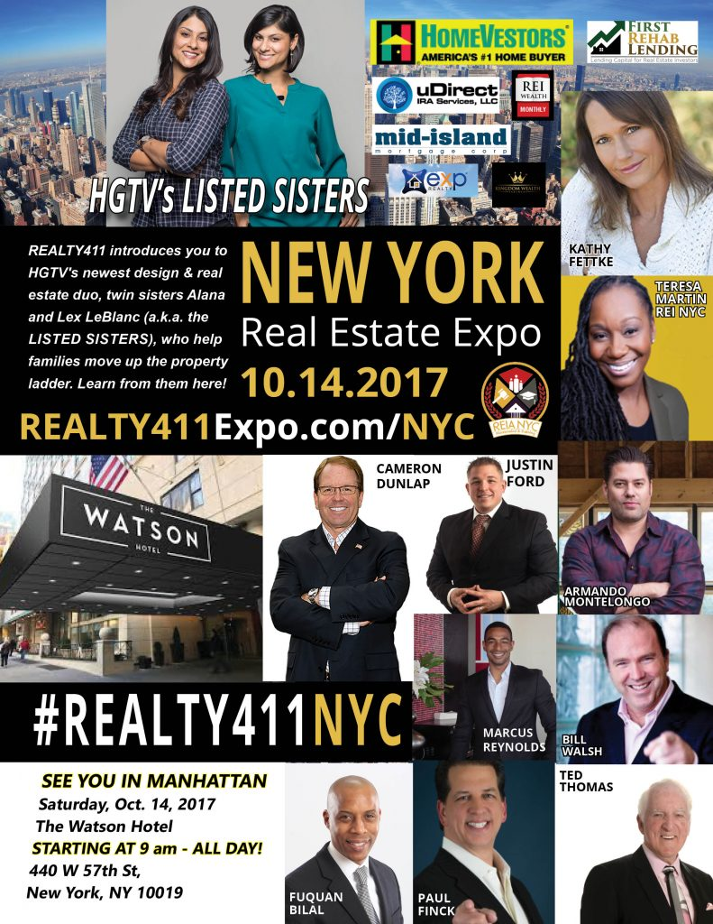 Register Here for Our NYC Expo and Meet HGTV's Listed Sisters!