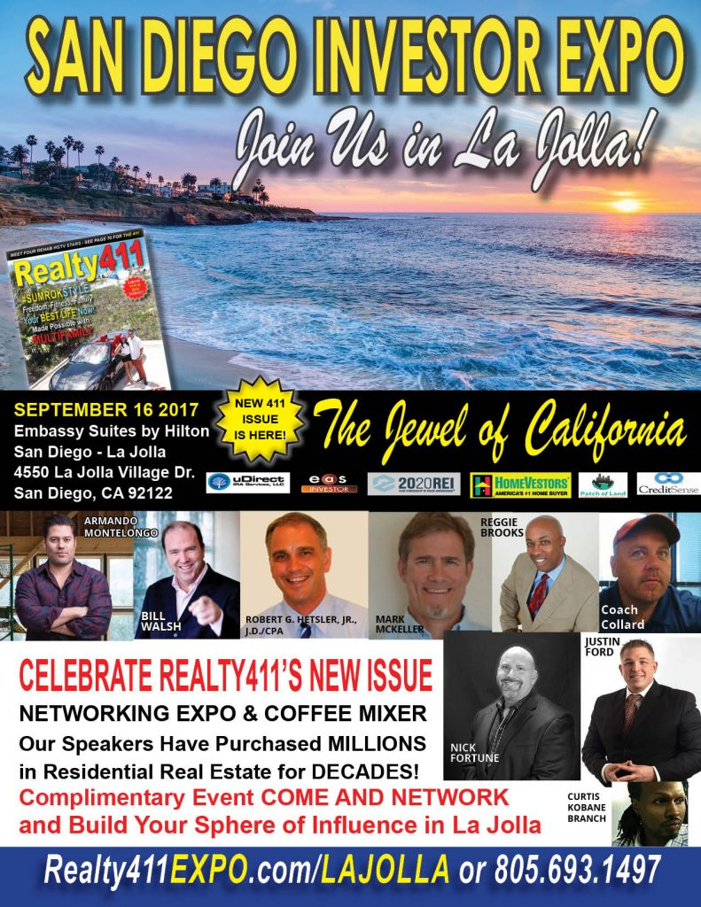 Realty411 Hosts San Diego Real Estate Investor's Summit – Enjoy a Complimentary Breakfast Mixer