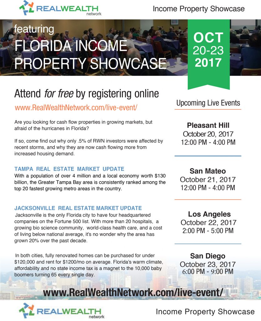 FIRST TIME: East Coast Income Property Showcase with Real Wealth Network