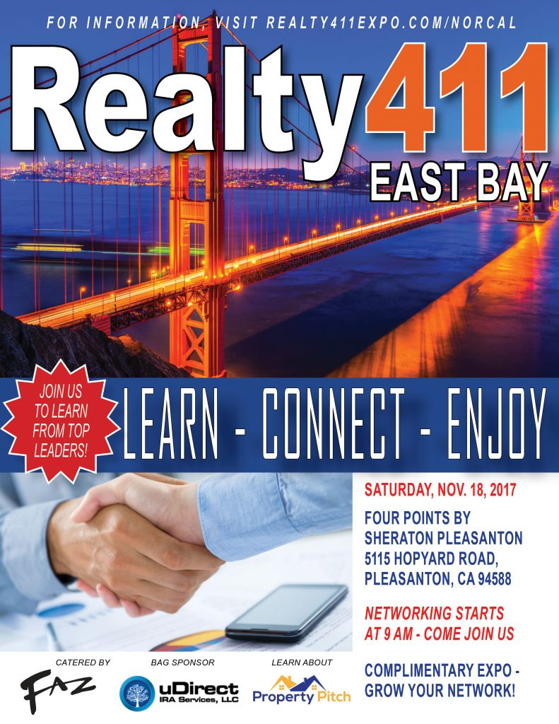 Download Our Schedule for our Pleasanton, CA, Investor's Expo – LEARN MORE HERE!