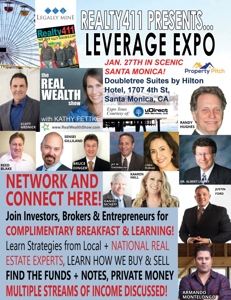 LEVERAGE EXPO IN LOS ANGELES – Realty411 Goes Coastal to Celebrate New Issue!