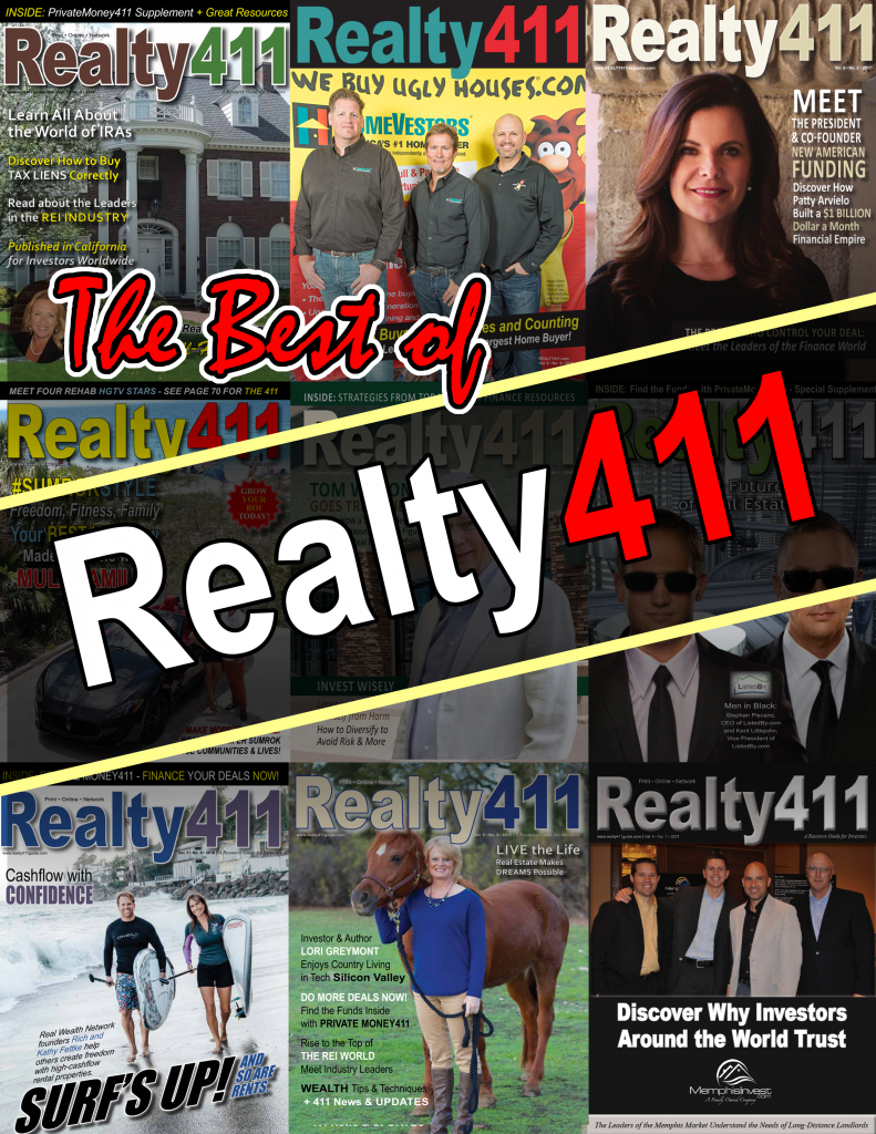 Meet the Leaders of Real Estate with REALTY411 – The Original Realty Magazine for Investors.