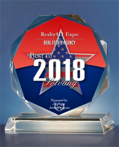 "Realty411 Receives ""2018 Best of Solvang"" Award – Realty411 Chosen for ""Exceptional Marketing Success"" in Business"