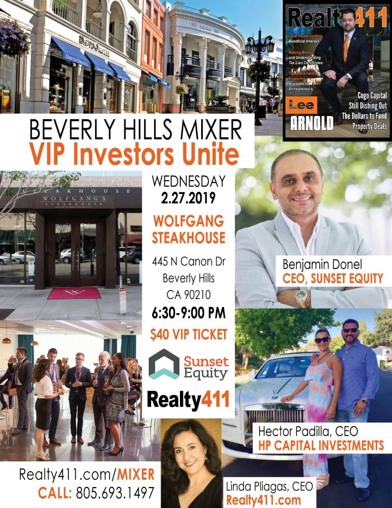 Beverly Hills VIP Investor's Mixer – Meet and Learn with Powerful REI Leaders